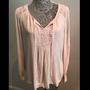 Spense Soft Pink Tie Blouse in size medium